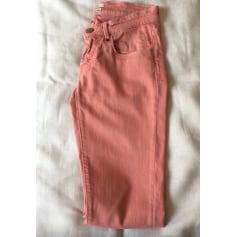 Jeans droit MAISON SCOTCH Rose, fuschia, vieux rose