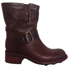 Bottines & low boots plates FREE LANCE Marron