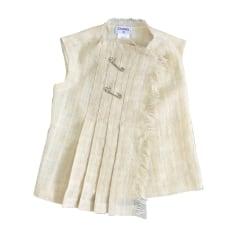Jacket CHANEL White, off-white, ecru