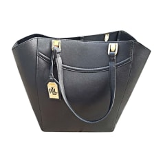 627ec1650811 new in  Leather Handbag RALPH LAUREN Black