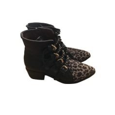 Bottines & low boots à talons FREE PEOPLE Noir