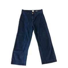 Jeans largo, boyfriend DES PETITS HAUTS Blu, blu navy, turchese