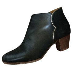 High Heel Ankle Boots DES PETITS HAUTS Black