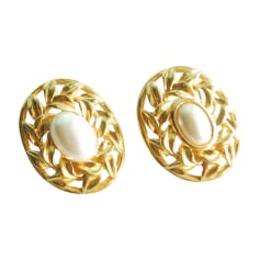 Earrings LANVIN Golden, bronze, copper