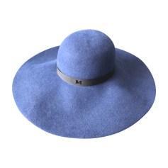 Hat MAISON MICHEL Blue, navy, turquoise