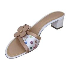 Sandales à talons LOUIS VUITTON Blanc, blanc cassé, écru