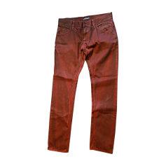 Jeans droit DOLCE & GABBANA Rouge, bordeaux