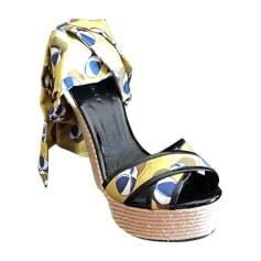 Sandales compensées GUCCI Multicouleur