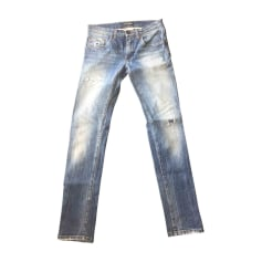 Jeans slim DOLCE & GABBANA Bleu, bleu marine, bleu turquoise