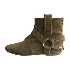 Bottines & low boots plates ISABEL MARANT Kaki
