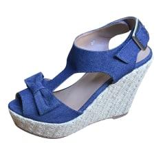 Sandales compensées CLAUDIE PIERLOT Bleu, bleu marine, bleu turquoise