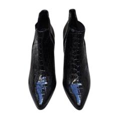 Bottines & low boots à talons PRADA Noir