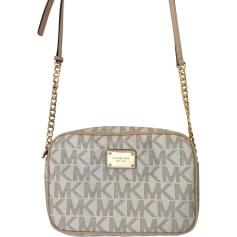 Leather Shoulder Bag MICHAEL KORS Beige, camel