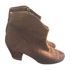 High Heel Ankle Boots ISABEL MARANT ETOILE Beige, camel