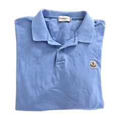 Polo MONCLER Bleu, bleu marine, bleu turquoise