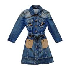 Manteau en jean DOLCE & GABBANA Bleu, bleu marine, bleu turquoise