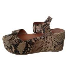 Sandales compensées SESSUN Beige, camel
