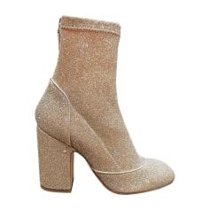 Bottines & low boots à talons LAURENCE DACADE Doré, bronze, cuivre