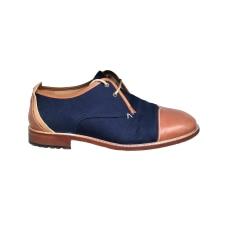Chaussures à lacets MONSIEUR MOUSTACHE Bleu, bleu marine, bleu turquoise