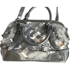 Leather Handbag BURBERRY Black