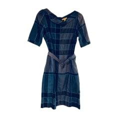 Midi Dress BURBERRY Blue, navy, turquoise