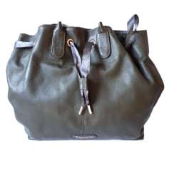 Leather Handbag REPETTO Khaki