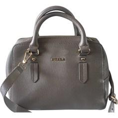 Leather Handbag FURLA Taupe