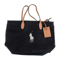 Non-Leather Handbag RALPH LAUREN Blue, navy, turquoise