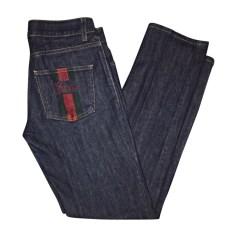 Jeans slim GUCCI Bleu, bleu marine, bleu turquoise
