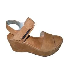 Sandales compensées FREE LANCE Marron