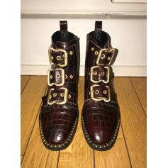 Bottines & low boots plates TOPSHOP Rouge, bordeaux
