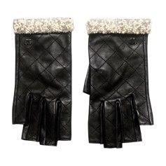 Fingerless Gloves CHANEL Black