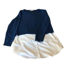 Pull tunique SANDRO Bleu, bleu marine, bleu turquoise