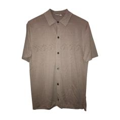 Short-sleeved Shirt HERMÈS Beige, camel
