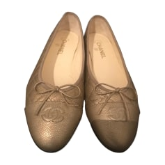 Ballerinas CHANEL Gold, Bronze, Kupfer