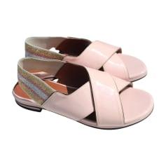 Sandales plates  SONIA RYKIEL Rose, fuschia, vieux rose