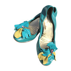 Escarpins MIU MIU Bleu, bleu marine, bleu turquoise