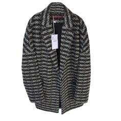 Manteau COMPTOIR DES COTONNIERS Noir,blanc et bleu