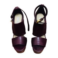 Sandales compensées STELLA MCCARTNEY Rouge, bordeaux