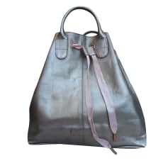 Leather Handbag REPETTO argent  mordoré