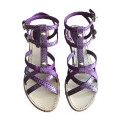 Sandales plates  LOUIS VUITTON Violet, mauve, lavande