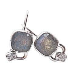 Boucles d'oreilles POIRAY Argenté, acier