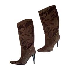 High Heel Boots JUST CAVALLI Brown