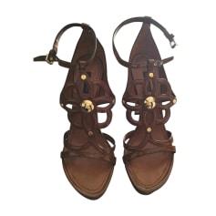 Sandales à talons LOUIS VUITTON Beige, camel