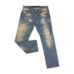 Jeans droit EMPORIO ARMANI Bleu, bleu marine, bleu turquoise