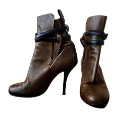 Bottines & low boots à talons BALENCIAGA Kaki