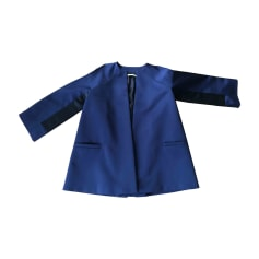 Manteau BALENCIAGA Bleu, bleu marine, bleu turquoise