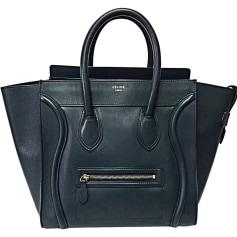 Sac XL en cuir CÉLINE Luggage Bleu, bleu marine, bleu turquoise