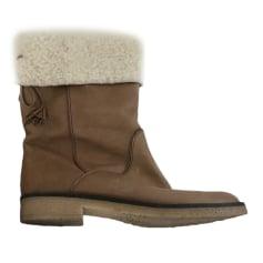 Bottines & low boots plates COMPTOIR DES COTONNIERS Beige, camel