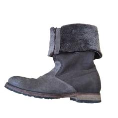 Flat Boots ATELIER VOISIN Brown